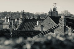 Rooftops and chimney pots (tonguedevil) Tags: landscape outdoor view town rooftops chimneys chimneypots bw barnardcastle teesdale