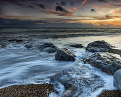 Incoming flows (Through Bri`s Lens) Tags: sussex lancing hightide rocks sea sun sand brianspicer canon5dmk3 canon1635f4 lee09softgrad