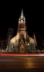 lit_st-james_church_night_01_8780233384_o (wvs) Tags: downtown flatiron light longexposure night people streaks streets textures urban toronto ontario canada can