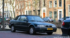 Rover 216i cabriolet 1994 (XBXG) Tags: hzfd49 rover 216i cabriolet 1994 rover216i 216 rover216 16v green vert cabrio convertible roadster tourer rapenburg leiden nederland holland netherlands paysbas youngtimer old classic british car auto automobile voiture ancienne anglaise uk brits vehicle outdoor