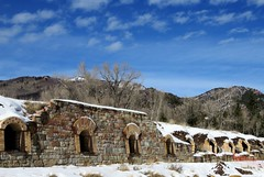 The Redstone Coke Ovens (Patricia Henschen) Tags: redstone colorado cokeoven historicdistrict nationalhistoricdistrict winter snow clouds mountain mountains westelk loop scenicbyway