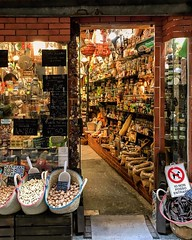 """Spices"" (giannipaoloziliani) Tags: oldshop italy urbanexplorer urbanstreet street oldstreet narrowstreets caruggi downtown lightandshadow liguria window streetphotography flickr colors iphonephotography iphone alleys vicolidigenova vicoli genoa genova alleysofgenoa noci fruits spezie shop spices"