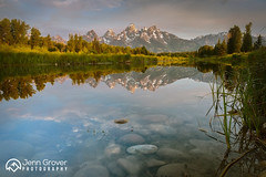 Teton Reflection (Jenn Grover) Tags: 2018 cathedralgroup gtnp grandtetonnationalpark grandtetons mtmoran schwabacherslanding wy west wyoming findyourpark landscape mountains reflection summer