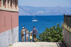 Corfu, Greece (13-7-2018) (TijmOnTour) Tags: sail boat family kids parents tourists frame sea island adriatic water mountains balkan mountain summer