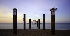 Brighton West Pier (EricMakPhotography) Tags: brighton west pier longexposure sunrise sea water ruins beach