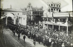 Australian Y.M.C.A. Building in Capetown, South Africa - 1919 (Aussie~mobs) Tags: ymca capetown 1919 ww1 troops soldiers parade march crowd welcome australian aif building city street southafrica army military anzac