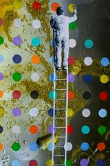 Street Art (Tore Thiis Fjeld) Tags: norway oslo streetart pain ladder painter colour stitch photoshop nikon nikonz7 sigma50mmf14dghsmart