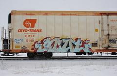 Goul (quiet-silence) Tags: graffiti graff freight fr8 train railroad railcar art goul ghoul ghouls a2m d30 dirty30 cryx cryo cryotrans reefer cryx5140