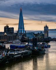 Dockside (JH Images.co.uk) Tags: london boats shard city towerbridge bridge riverthames river night clouds water dock skyscraper architecture hdr dri