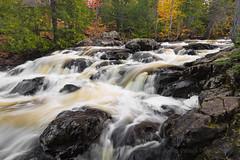 Ten Foot Falls (Kevin Pihlaja) Tags: keweenaw upperpeninsula michigan autumn waterfall fallcolors fall waterflow forest trees rocks nature landscape leefilters