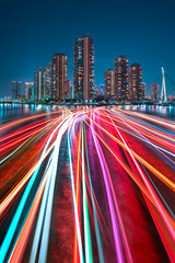 Waterlanes (Peter Stewart Photography) Tags: tokyo japan night evening river city cityscape sumida cruise boats leisure light trail water long exposure nisi nightfilter