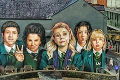 Derry Girls (mickreynolds) Tags: derrygirls mural graffiti northern ireland street art green