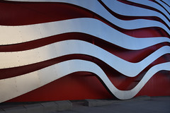 flow.jpg (remiklitsch) Tags: petersenautomotivemuseum museum red silver metal steel architecture nikon remiklitsch street losangeles wilshire abstract art urban city rivets texture wall design style edifice structure modern corrugated
