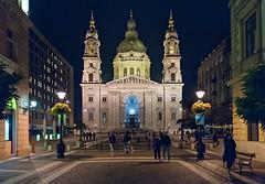 St. Stephan Basilica (Dmitry Shakin) Tags: budapest hungary night evening facade church basilica dome tower
