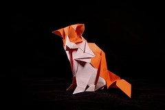 🐱 (guangxu233) Tags: art paper paperart paperfolding fold handmade cat animal 折纸 折り紙 折り紙作品 origami origamiart