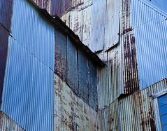 painesdale mi copper mine-021 (swardraws) Tags: corrugated painsdale michigan blue coppermine