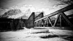 Shot over the Bow (Edna Winti) Tags: ednawinti alberta canmore winter ice frozen bowriver enginebridge