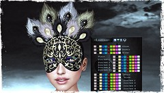 *OA-MEO* =Laveau=_001 (Mondi Beaumont) Tags: sl secondlife mask jewel mesh colors hud feathers scales disk disc color oameo facial carnival jewelry laveau unrigged costume sexy event suicide dollz blog blogging face catwa rp roleplay