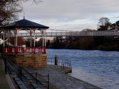 Band Stand & Queens Park Bridge The River Dee Chester Sunday 2Nd december 2018 Sony HX60-V (mrd1xjr) Tags: band stand queens park bridge the river dee chester sunday 2nd december 2018 sony hx60v