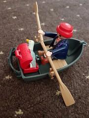 Playmobil boat man (Carol B London) Tags: playmobil toy imaginativeplay boat boatman figure