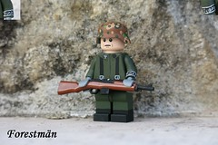 Prinz Eugen Schütze, custom LEGO (Forestmän) Tags: lego ww2 world war wwii custom waffen ss brickarms painted