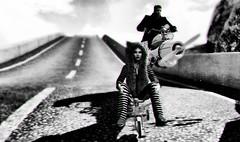 the journey (Dena Dana) Tags: road surreal journey bike monochrome ambient fantasy