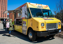 Students order food from Baby Berk (dailycollegian) Tags: baby berk students food truck sunny day nice weather sun meal plan dining dollars dollar ycmp