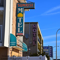 Motel times three (lauren3838 photography) Tags: laurensphotography lauren3838photography landscape building architecture signs vintage nj jerseyshore newjersey ocean seaside motel nikon d750 boardwalk colorful colors