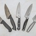 Kitchen knives fanned out