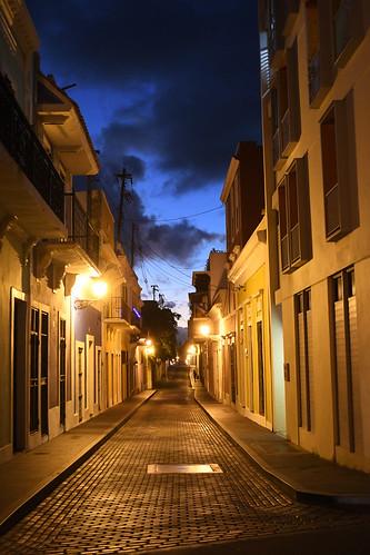 Golden lights street