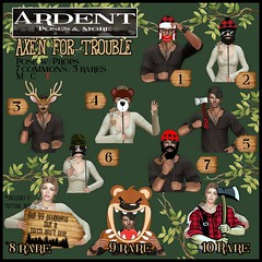 Adent Poses - Gacha - Axe'n for Trouble (Ardent Poses) Tags: secondlife second life sl avatar 2nd 2ndlife avi virtual vr 3d inworld poses pose ardent photography people exclusive avatars release new broderick logan ena roane enaroane advertisement ardentposes gacha
