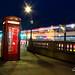 London Telephone Box in traffic