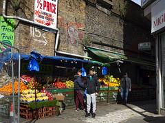 Rye Lane Market Stalls, Peckham (London Less Travelled) Tags: uk unitedkingdom britain england london eastlondon southwark peckham rye city urban suburb suburban suburbia market stall fruit people arches railway