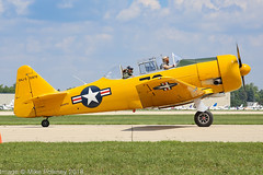 N51979 - 1944 build North American SNJ-5 Texan, taxiing for departure at Oshkosh during Airventure 2018 (egcc) Tags: 79 51979 8815167 airventure airventure2018 eaa harvard kosh lightroom n51979 n6551d northamerican osh oshkosh snj5 texan usnavy upnorth warbird