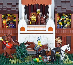 At The Races (Cuahchic) Tags: varlyrio horses racing stand hedge lego foitsop medieval entertainment guildsofhistorica