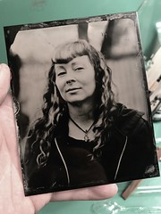 First Wetplate Collodion Tintype (mikefiction) Tags: goodkingraphinar300mmf68 godkingraphinar dagor toyod45m d45m toyo 4x5 largeformat wetplatecollodion wetplatecollodiontintype tintype collodion wetplate darkroom