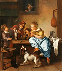 Jan Steen. Children Teaching a Cat to Dance. c.1660-79 (arthistory390) Tags: rijksmuseum