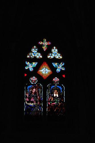 20100603 365 Jakobus Bilbao Kathedrale Fenster Dreifaltigkeit Jesu Geist