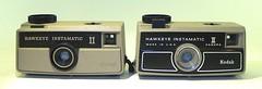 Kodak Hawkeye Instamatic II cameras : 2 versions (camera.etcetera) Tags: kodak hawkeye instamatic 126 usa