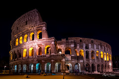 Colosseum  by night (Magda Banach) Tags: colosseum europa europe italy nikkor2401200mmf40 nikond850 włochy architecture buildings city clearsky colors lights night old outdoor outside spring travel trip