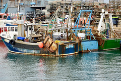 Hard worked fishing boats in Brixham harbour (Dave_S.) Tags: boats ships working fishing building harbour quay sea brixham devon england united kingdom great britain uk gb nikon d3200 sky water color colour colourful colorful south west destination holiday boat bay trawler bm234 jadestar