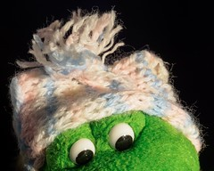 winter knit (m_big_b) Tags: knitting frog macromondays cloth