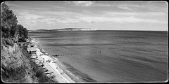 The view from Shanklin (Alex . Wendes) Tags: d50 nikond50 shanklin blackandwhite bw 1855mm nikon1855mm sea seascape landscape isleofwight beach