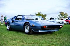 Ferrari 308 GTB in blue (Eric Flexyourhead) Tags: surrey britishcolumbia bc canada southsurrey crescentbeach crescentbeachconcoursdelegance 2018 car detail fragment italian ferrari 308gtb ferrari308gtb blue azzurro502c sonyalphaa7 zeisssonnartfe55mmf18za zeiss 55mmf18