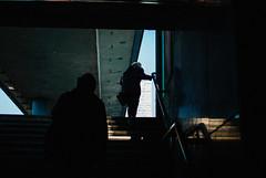 Climb (ewitsoe) Tags: 35mm cityscape d80 nikon street warsw warszawa winter erikwitsoe erikwitsoecom poland urban stairs woman pedestrians people polska stairway train station city mood light sunny