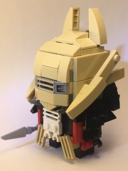Enfys Nest Brickheadz (Spawnwrithe) Tags: brickheadz moc figure lego creation star wars enfys nest skull helmet fur solo cape bone afol
