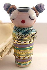 Geisha Focal Bead by Irina Samek (Croatia) (diamondboa) Tags: focalbead bead glass lampworked handmade geisha