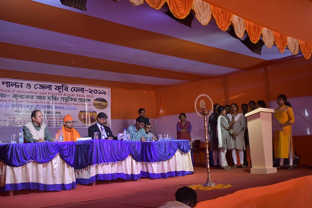 District Krishi Mela and Technology Week Celebration organized by Sasya Shyamala KVK, Ramakrishna Mission Vivekananda Educational and Research Institute (RKMVERI) in the KVK premises at Arapanch, Sonarpur during 14 to 16 February, 2019.