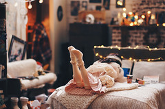Illness II (AzureFantoccini) Tags: bjd abjd doll dollhouse zaoll dollmore luv balljointeddoll room dollroom miniature diorama bedroom
