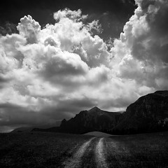 (PGKreling) Tags: approved italy road path clouds blackandwhite bw dramatic square contrast